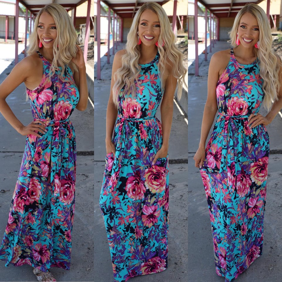 840a299e897 May Flowers Maxi Dress – The Lace Cactus