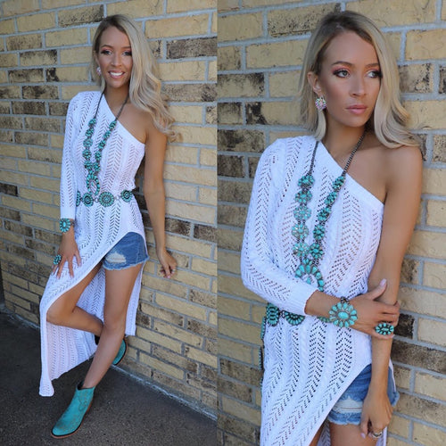 Wallingford White One Shoulder Tunic
