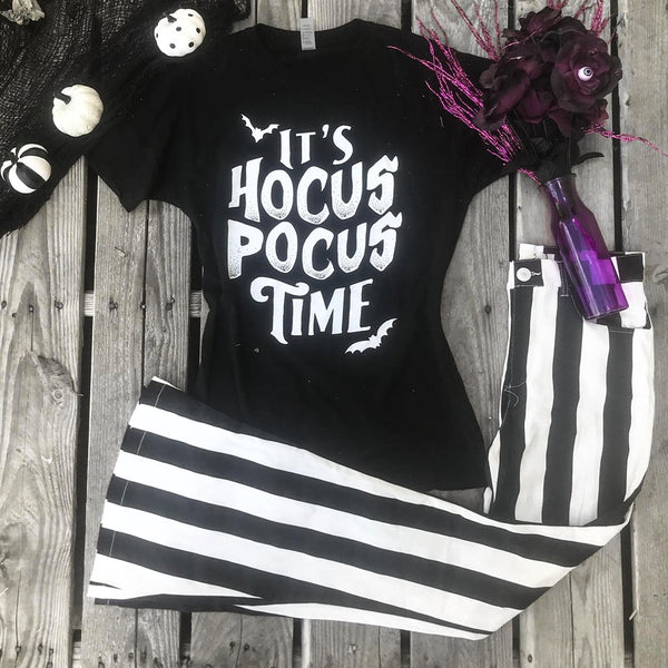 It's Hocus Pocus Time Black Tee - The Lace Cactus