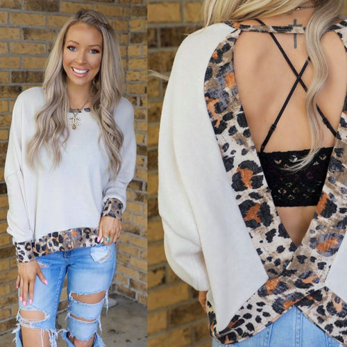 Rodeo Dust Leopard Keyhole Back Top