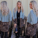 Sage and Leopard Cardigan