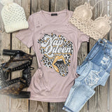 Champagne Rose Distressed Nap Queen Tee