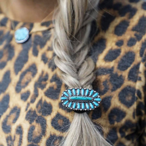 Tally Jo Turquoise Hair Tie Concho