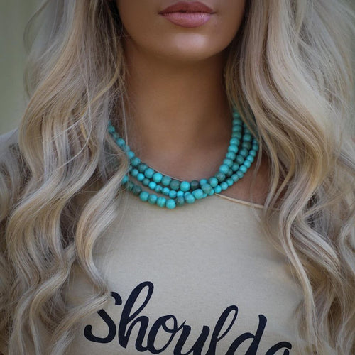 18'' Triple Strand Turquoise Necklace