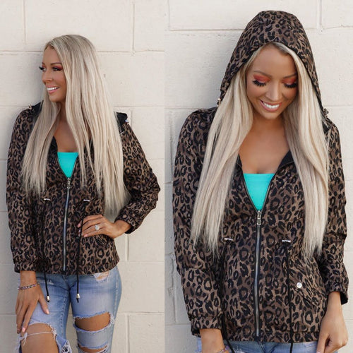 Reversible Windy Daze Leopard Jacket