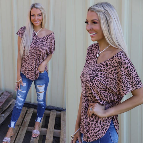 Ginger Leopard Tee