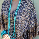 Extra-Long Double Turquoise Necklace