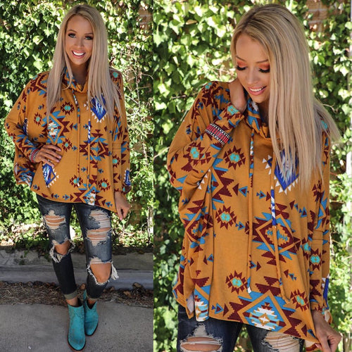 Mustard Reined Rust Tribal Tunic