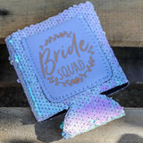 Bride Squad Sequin Can Cooler