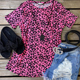 Passion Pink Leopard Tee