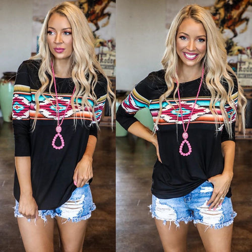 Midnight Train Tribal Top
