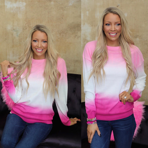 Posie Pink Ombre Sweater