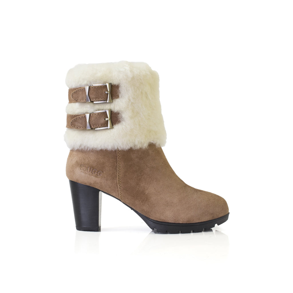 b0bd837c50c UGG Boots Candice -Ladies Fashion High Heel, Australian wool line,Zip Up  Style