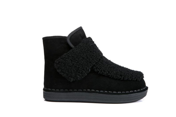 UGG Winnie Velcro Ankle Mini Boots Genuine Sheepskin Upper&Inner Thick Soles Warm & Comfortable - UGGs Boots Australia
