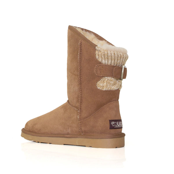 UGG Boots Juliet - Ladies Fashion Buckle,  Australian wool lining - UGGs Boots Australia