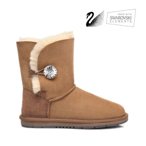 fdf54b00c2 Australian Shepherd Water Resistant Ladies Crystal Short Button UGG Boots - UGGs  Boots Australia