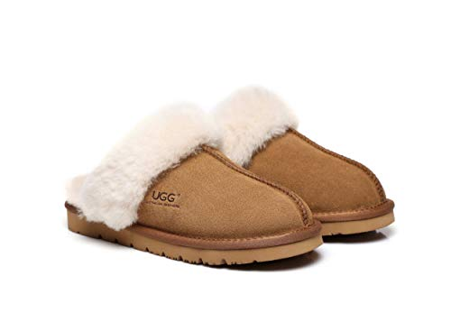 UGG Slippers Australia Premium Sheepskin Unisex Muffin Scuff Best Gifts for Womens Girls Shoes - UGGs Boots Australia