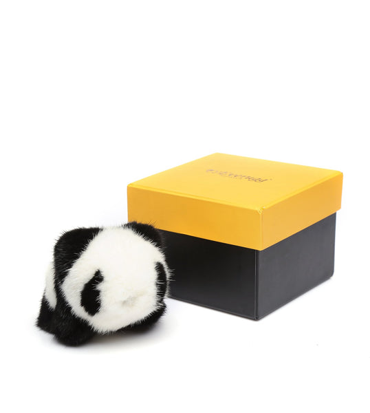 Ever UGG Adorable Fur Panda Bag Charm Soft Coney Fur 10cm/13cm - UGGs Boots Australia