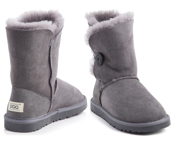 2d47be3f513 Ozwear UGG Short Button Ladies Premium Sheepskin UGG Boots