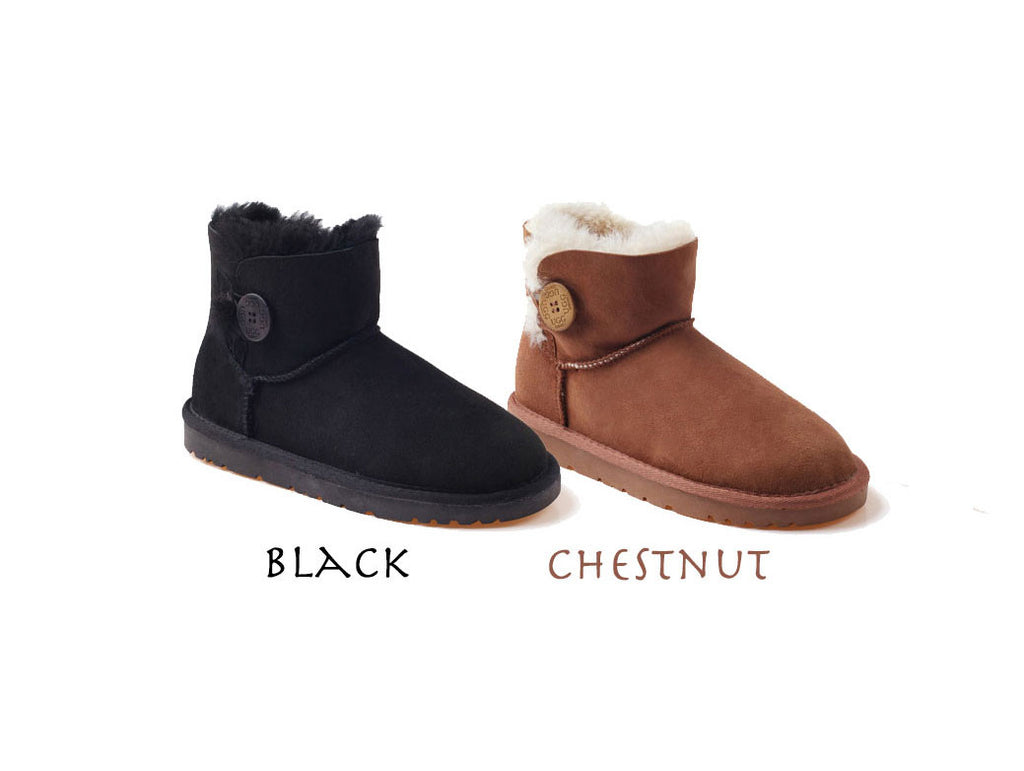 Ozwear UGG Mini Button Ladies Premium Sheepskin UGG Boots - UGGs Boots Australia ...