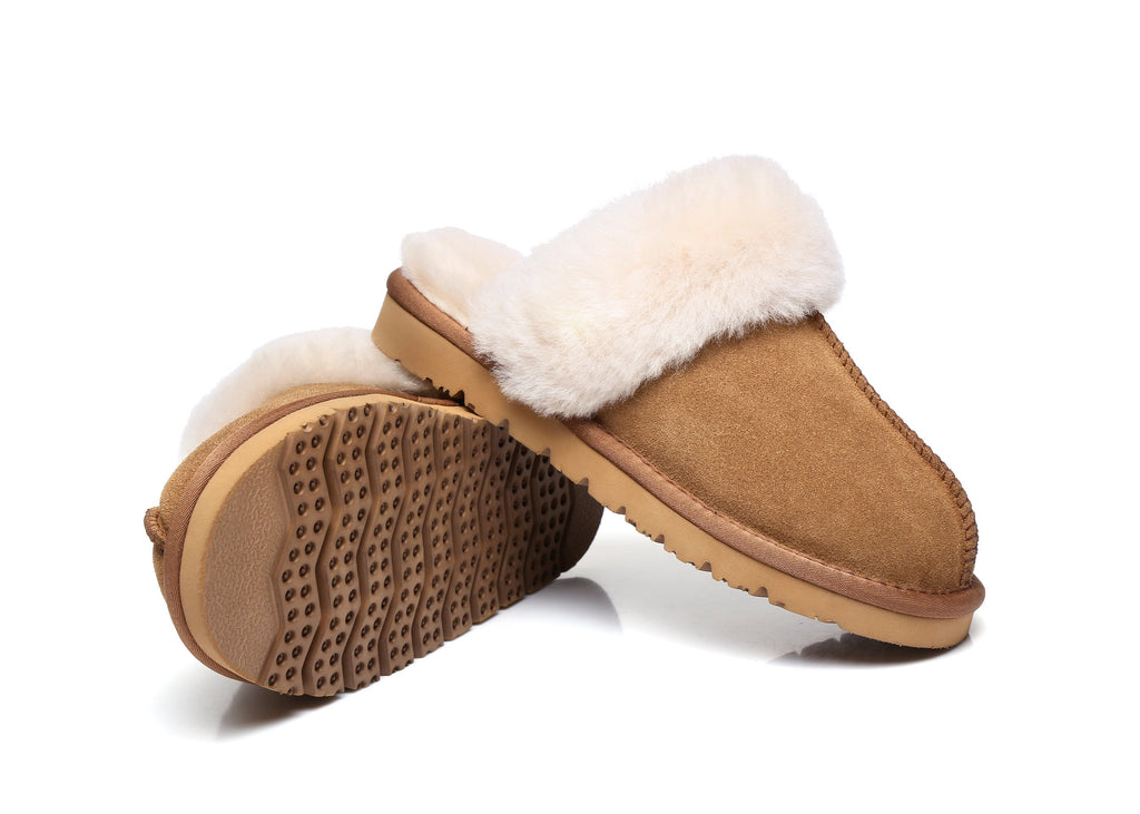 3bdd06e5929 UGG Muffin Slipper Unisex Scuff/Slippers, Genuine Sheepskin Lining, Suede  Upper, EVA Thick Sole