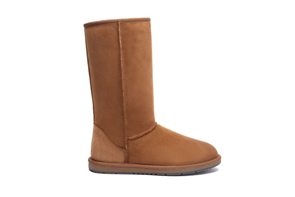 28c7aadb7ee UGG Boots AS Tall Classic Unisex, Premium Australian Double Faced  Sheepskin, Water Resistant Non-Slip Rubber Sole