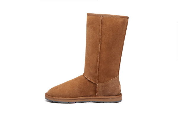 UGG Boots Tall Side Lace Up, Premium Australian Double Faced Sheepskin Australian Shepherd - UGGs Boots Australia