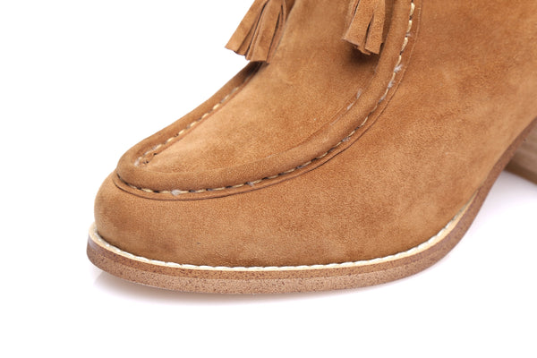 UGG Ladies Fashion Heel Boots sabrina, Front Lace Up Sheepskin Lining&Insole,Non Slip Rubber Sole - UGGs Boots Australia