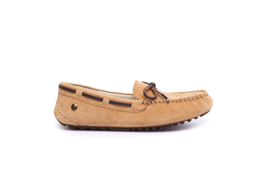 7423be141a0 UGG Ladies Summer Lace Moccasins Loafer,rubber sole,indoor/outdoor flat  shoes