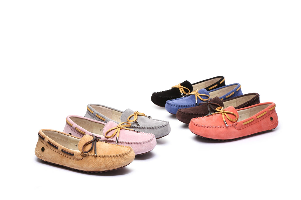 cfc8652148b UGG Ladies Summer Lace Moccasins Loafer,rubber sole,indoor/outdoor flat  shoes