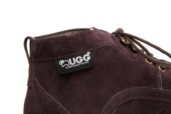 UGG Mini Boots Mens Treadlite Lace up  Shoes Louis - Australian Sheepskin Inner, Suede Upper - UGGs Boots Australia
