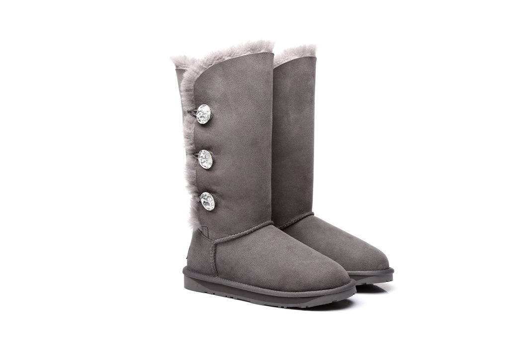 17bc33910d2 UGG Boots - Ladies Water Resistant Tall Button with Crystal
