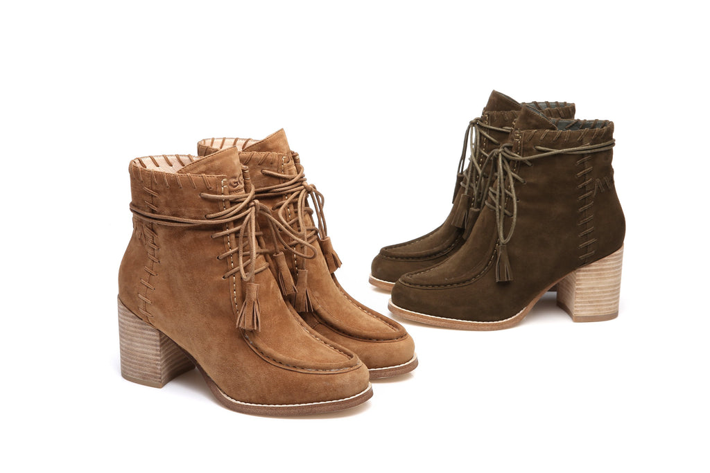 118021810ac UGG Ladies Fashion Heel Boots sabrina, Front Lace Up Sheepskin  Lining&Insole,Non Slip Rubber Sole