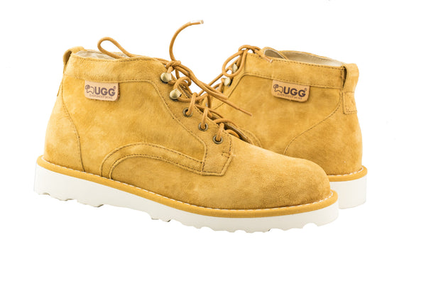 UGG Mini Boots Ladies Treadlite Lace up Shoes Lucia - Suede Upper Rubber Sponge Sole - UGGs Boots Australia