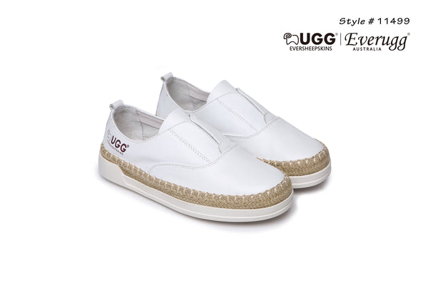 UGG Kids Breathe Soft Leather Shoes, Slip On Comfort Loafer, Cushioned Sole - UGGs Boots Australia
