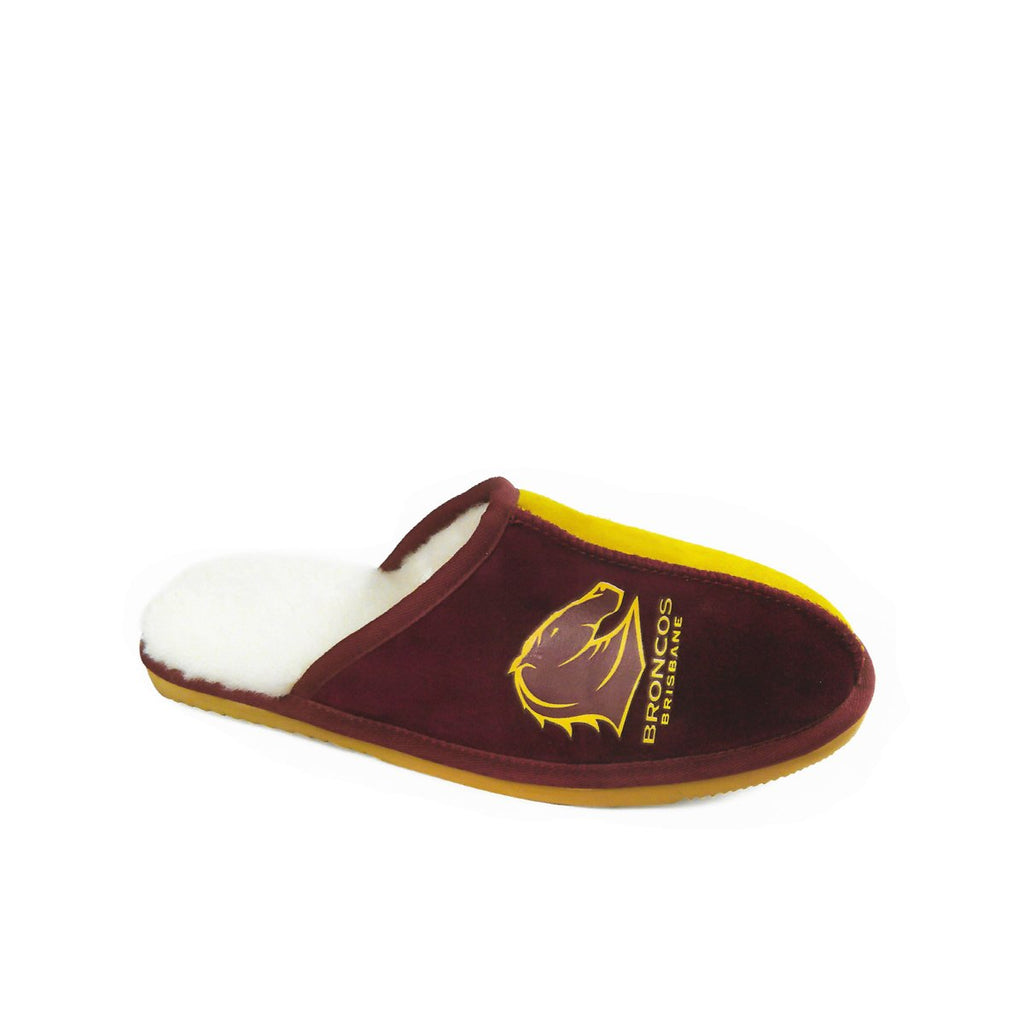 NRL Official Licensed UGG Adult Unisex Slippers Brisbane Broncos - UGGs Boots Australia