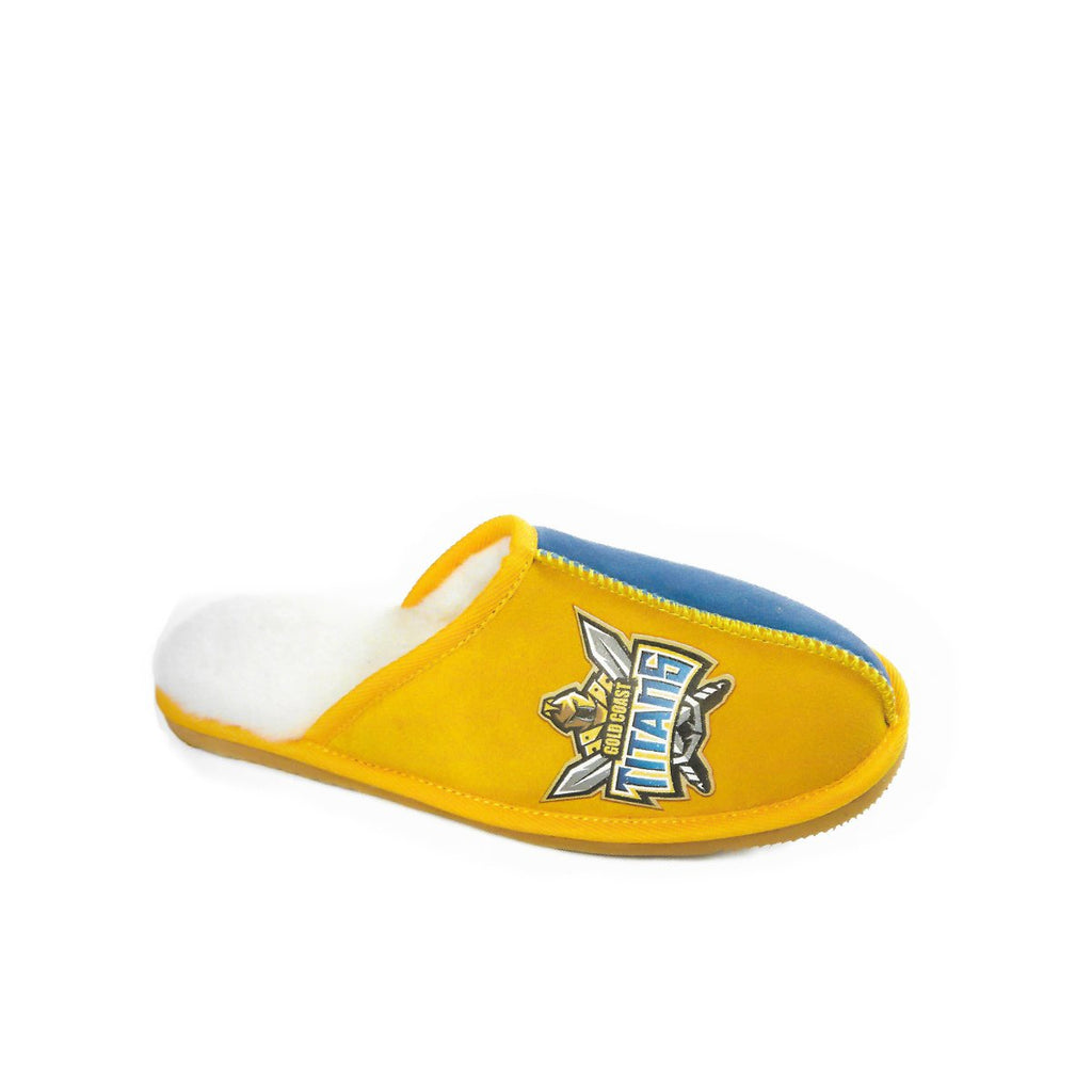 NRL Official Licensed UGG Adult Unisex Slippers Gold Coast Titans - UGGs Boots Australia