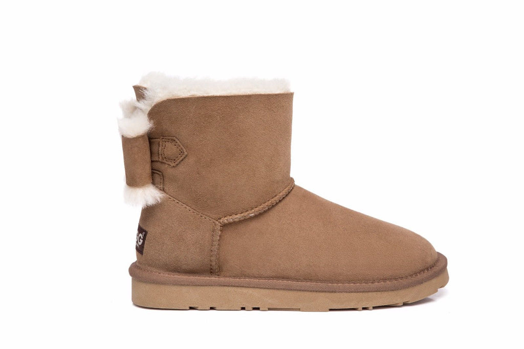 ankle ugg boots with bow