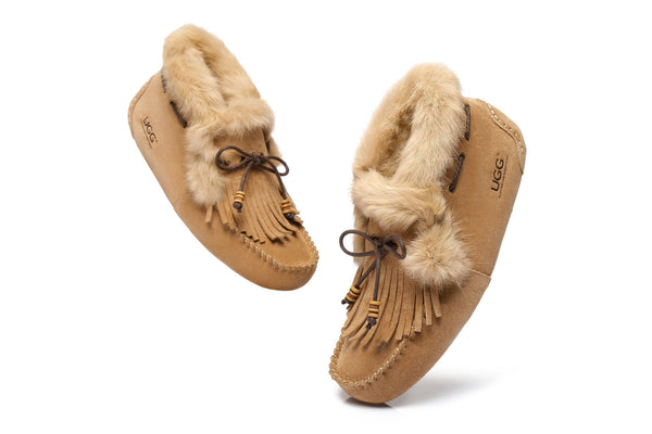 AS UGG High Top Women Tassel Suna Moccasin - UGGs Boots Australia