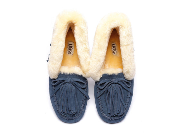 AS UGG Women Collar Lulu Moccasin with Tassel - UGGs Boots Australia