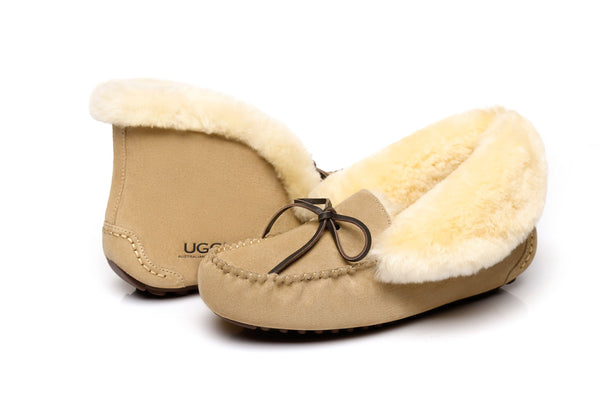 AS UGG Women Collar Shirley Moccasin - UGGs Boots Australia