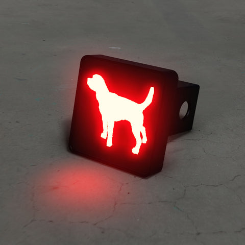 Beagle Silhouette LED Hitch Cover - Brake Light