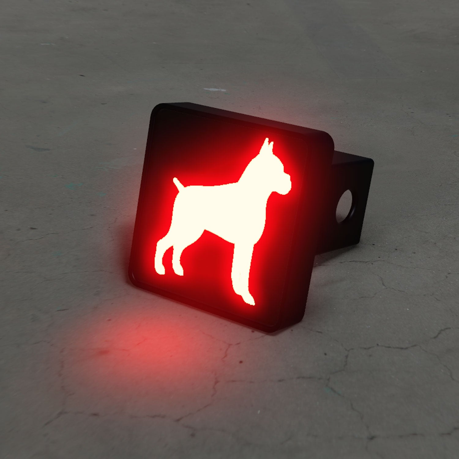 Boxer Silhouette LED Hitch Cover - Brake Light