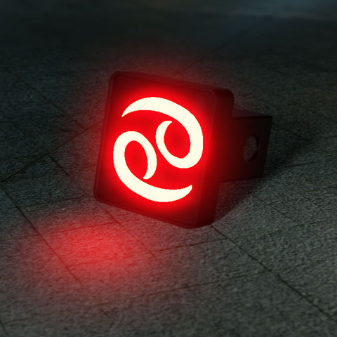 Cancer Zodiac LED Brake Hitch Cover