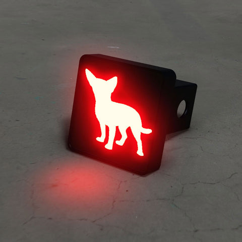 Chihuahua Silhouette LED Hitch Cover - Third Brake Light