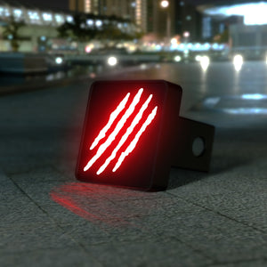 Claw Slash Marks LED Hitch Cover - Brake Light