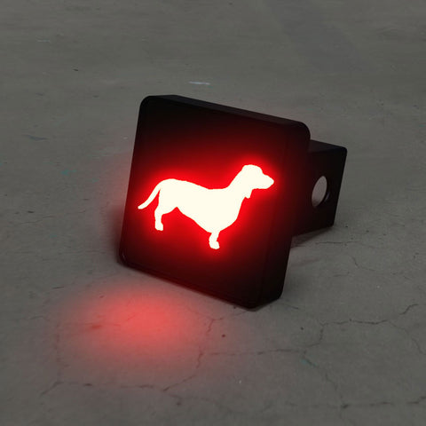 Daschound Silhouette LED Hitch Cover - Brake Light