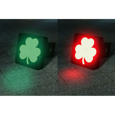 Dual Color Changing Clover Shamrock LED Hitch Cover - Third Brake Light