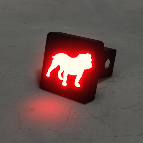 English Bulldog Silhouette LED Hitch Cover - Third Brake Light