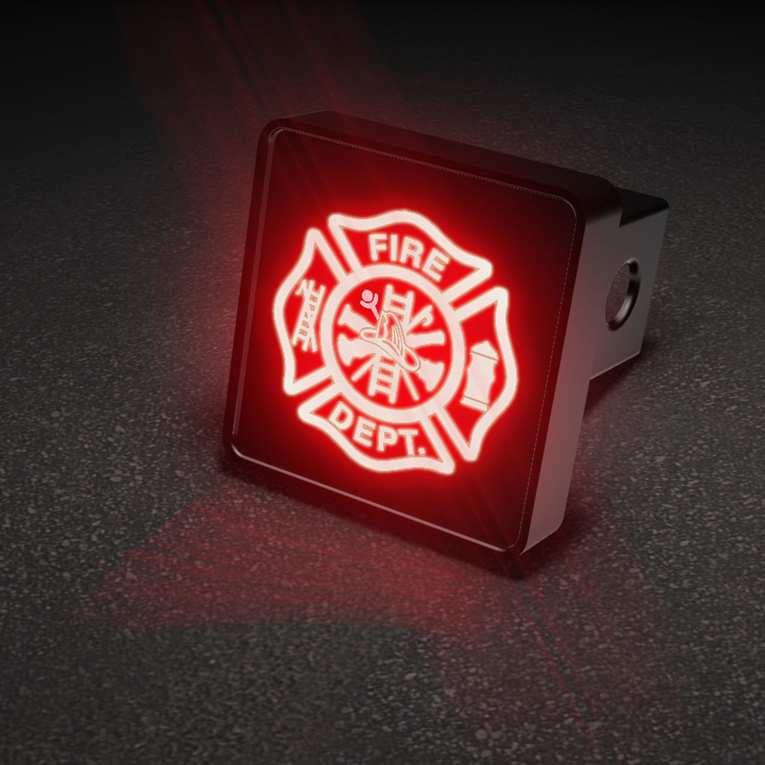 Firefighters Cross Emblem LED Hitch Cover - Brake Light